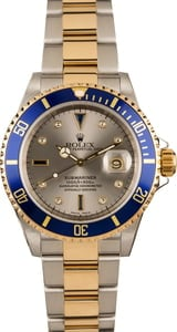 Pre-Owned Rolex Submariner Serti Diamond Dial