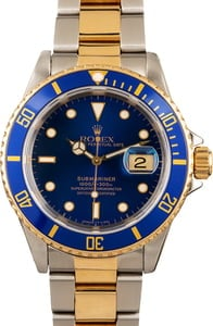 Rolex Submariner 16613 Blue Dial Men's Watch
