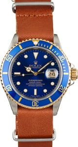 Used Rolex Submariner 16613 Leather Strap