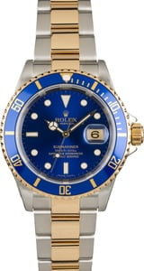 Used Rolex Blue Submariner 16613