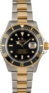 Used Rolex Submariner Two-Tone Black 16613