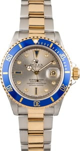 Pre Owned Rolex Submariner 16613 Steel Serti