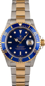 Pre Owned Rolex Submariner Two Tone 16613 Blue Dial