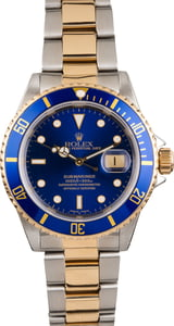 Pre Owned Mens Rolex Submariner 16613 Blue