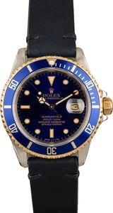 Used Men's Rolex Submariner 16613 Leather Bracelet
