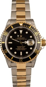 Used 40MM Rolex Submariner 16613 Black Dial
