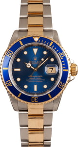 Two Tone Rolex Submariner 16613 Blue Dial