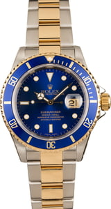 Two Tone Rolex Submariner 16613 Men's Watch