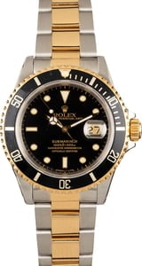 Pre Owned Two Tone Rolex Submariner 16613