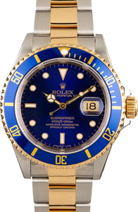 Men's Rolex Submariner 16613 Two Tone