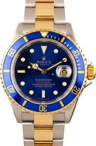 Blue Rolex Submariner 16613 Two Tone Oyster