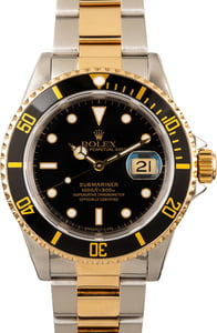 Rolex Submariner 16613 Black Tritium Dial
