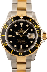 Rolex Submariner 16613 Black and Gold