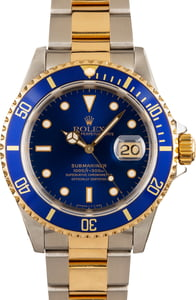 Rolex Submariner Blue Dial 16613 Steel and Gold