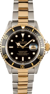 Rolex Submariner 16613 Black and Gold Bezel