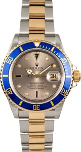 Rolex Submariner 16613 Diamond and Sapphire Dial