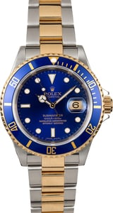 Blue Rolex Submariner 16613 No Holes Case