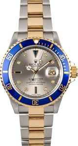 Rolex Submariner 16613 Serti Diamond Dial