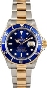 Rolex Submariner 16613 Two Tone Blue Bezel