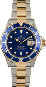 Two Tone Submariner Rolex 16613