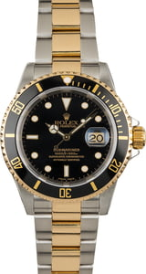 Used Rolex Submariner Black 16613 Steel & Gold
