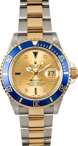 Rolex Submariner 16613T Serti Certified Pre-Owned