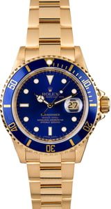 Used Rolex Submariner 16618 Blue Dial
