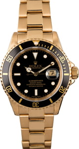 Rolex Submariner 16618 Yellow Gold Oyster Bracelet