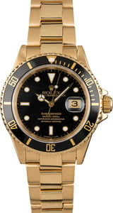Used Rolex Submariner 16618 Yellow Gold Oyster Bracelet