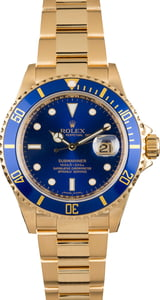 Pre Owned Rolex Submariner Gold 16618