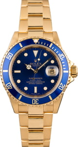 Rolex Submariner 16618 Yellow Gold