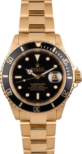 Pre Owned Rolex Submariner 16618 Yellow Gold Oyster Bracelet