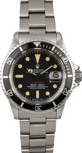 Vintage 1973 Rolex Red Submariner 1680