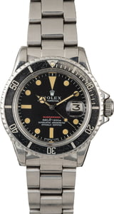 Vintage 1971 Rolex Red Submariner 1680 Feet First Dial