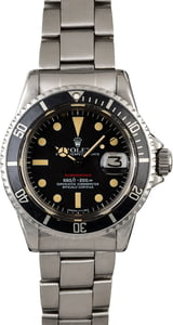 Vintage Rolex Red Submariner 1680 Feet First