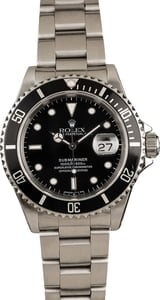 Used Rolex Black Dial Submariner 16610