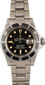 Vintage 1978 Rolex Submariner 1680 Matte Black Feet First