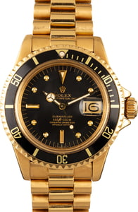 Vintage Rolex Submariner 1680 18k Yellow Gold