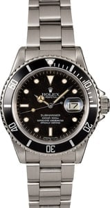 Men's Rolex Submariner 16800 Stainless Steel