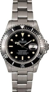 Authentic Rolex Submariner 16800 Sapphire Crystal