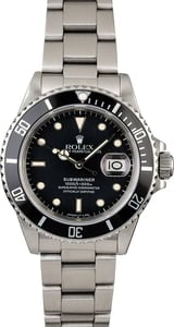 Men's Steel Rolex Submariner 16800