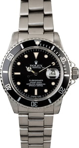 Used Rolex Submariner 16800 Diving Watch