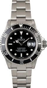 Rolex Submariner 16800 Stainless Steel Watch