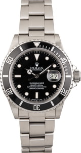 Pre-Owned Rolex Submariner 16800 Steel Oyster Bracelet