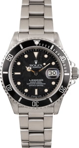 Used Rolex Submariner 16800 Black Dial 40MM