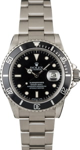 Rolex Submariner 16800 White Gold Surrounds