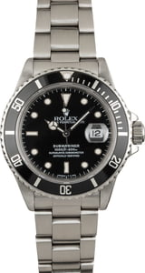 Used Rolex Submariner 16800 Black Tritium Dial