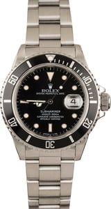 Pre-Owned Rolex Submariner 16800 Timing Bezel T