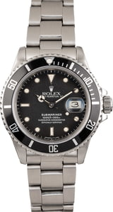 Pre Owned Rolex Submariner 16800 Steel Watch
