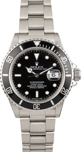 Pre Owned Rolex Submariner Black Dial 16800
